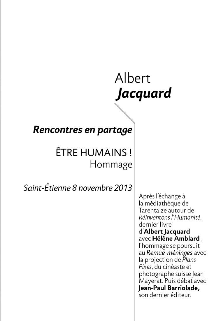 Albert Jacquard get bold