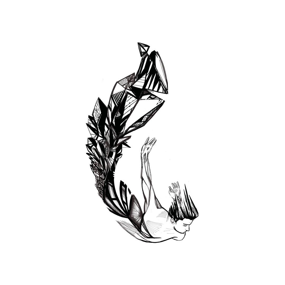 illustration plume plongeur get bold design gael barnabe ©