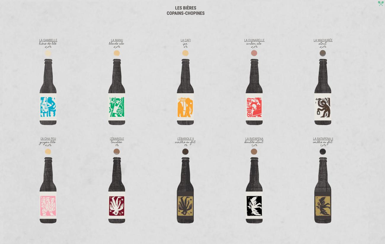 liste des bières de la Brasserie stéphanoise get bold design