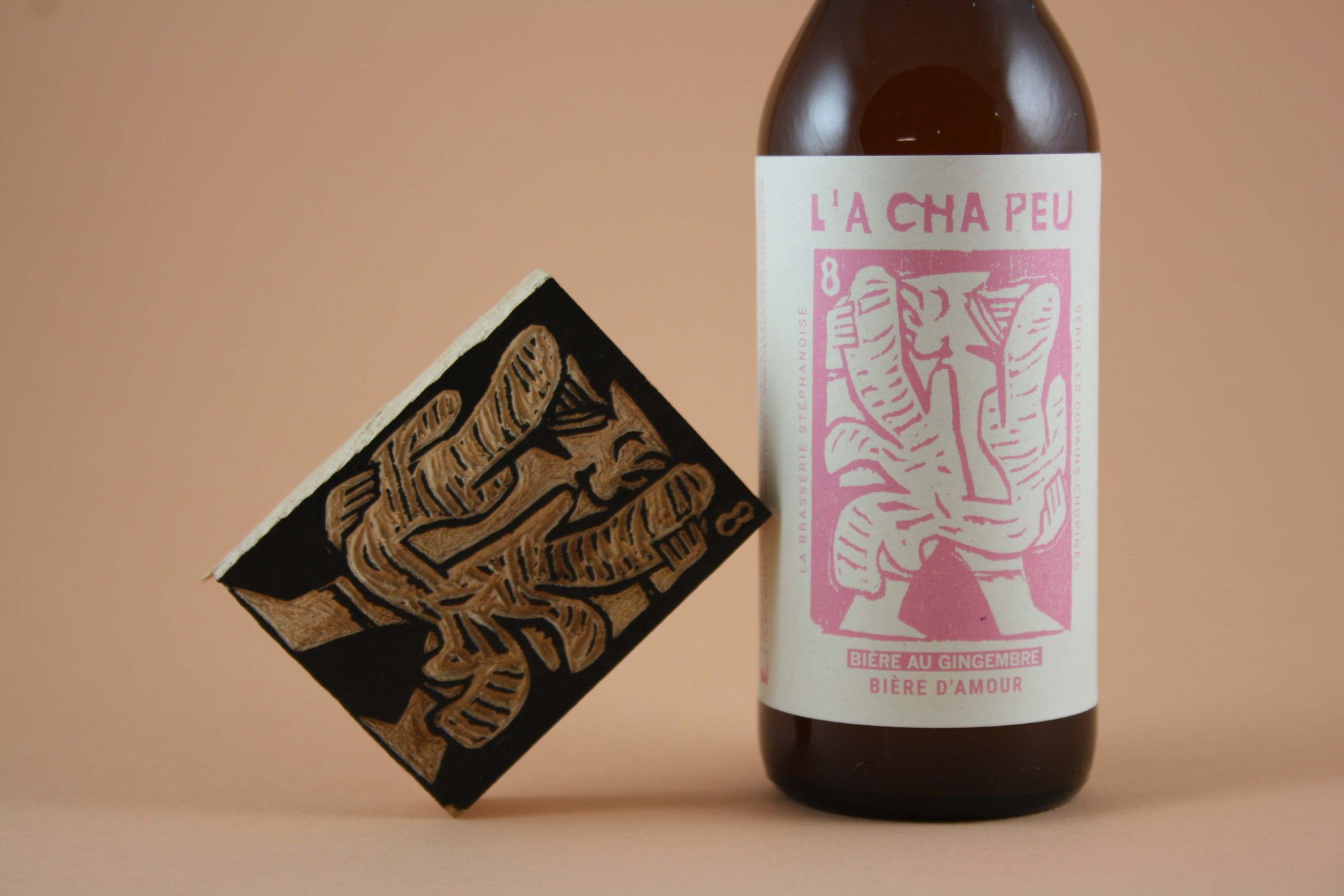 bière gingembre brasserie stéphanoise get bold design
