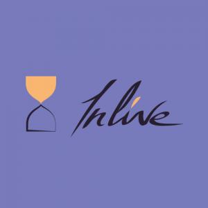 Inlive logo en couleur violette get bold design